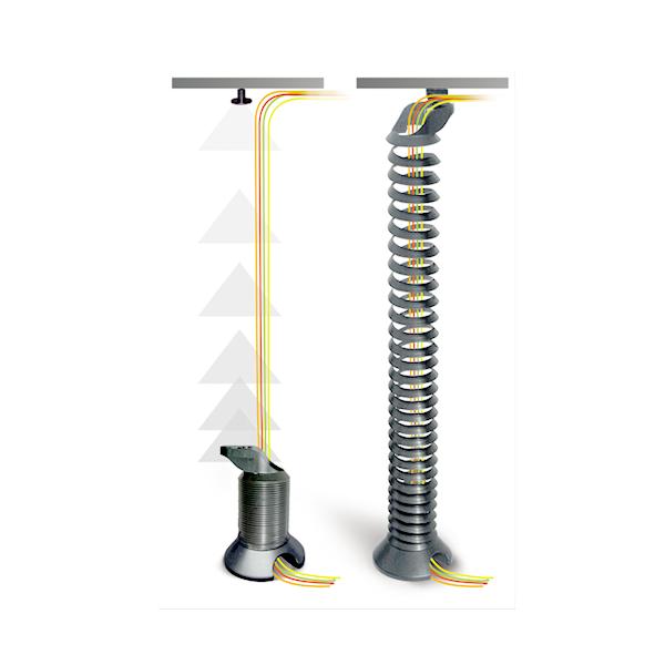 Kabelspiraal Zilver-SALE