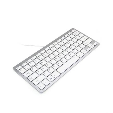 Ergo Compact Toetsenbord Zilver– minitoetsenbord