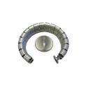 Kabelslurf Zilver 8-vormig - kabelmanagement