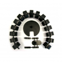 Kabelslurf Zwart rond - kabelmanagement
