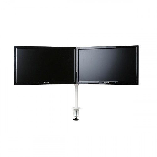 Skylar Double Monitorarm Wit - monitor beugel