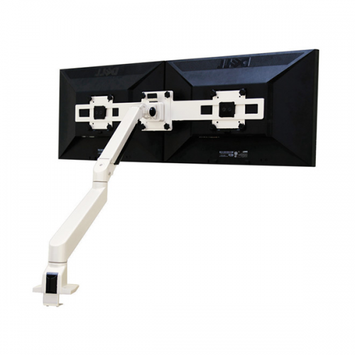 Devia Monitorarm Double Wit 9-21kg - monitor beugel