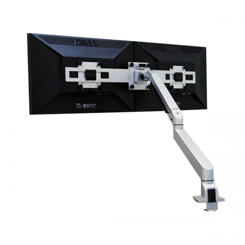Devia Monitorarm Double Zilver 2-10kg