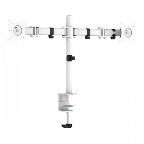 Taro Double Monitorarm Wit - monitor beugel